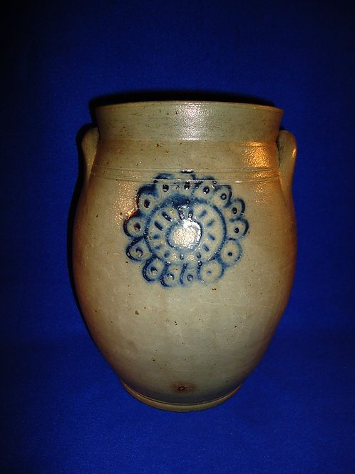 Early 19th Century 2 Gallon Ovoid Stoneware Jar from New York
