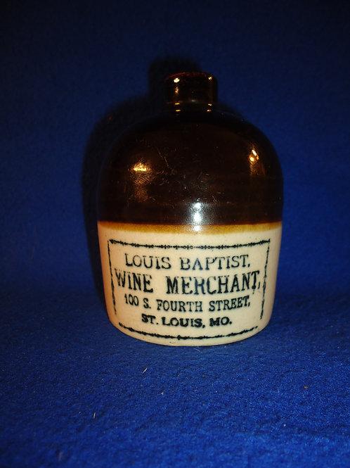 Louis Baptist, Wine Merchant, St. Louis, Missouri Stoneware Mini Jug