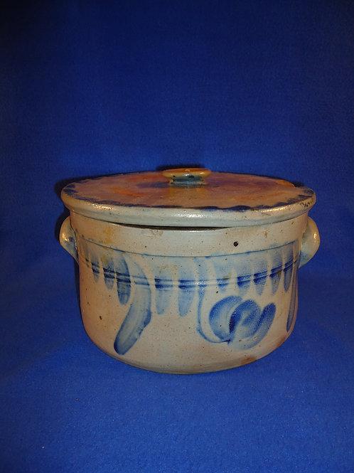 Circa 1860 Lidded Cake Crock, Baltimore, Maryland #5853