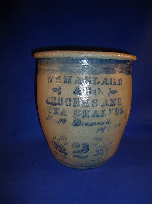 Haslage, Grocers and Tea Dealers, Pittsburgh Stoneware Cream Pot #5555
