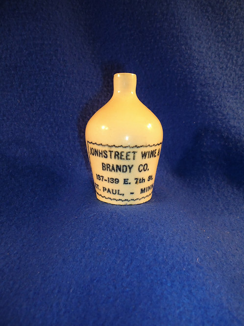Johnstreet Wine and Brandy, St. Paul, Minnesota Stoneware Mini Jug
