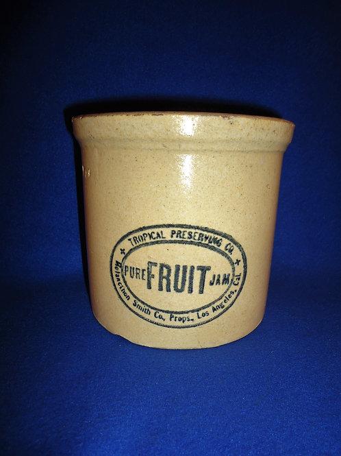 Tropical Preserving Company, Pure Fruit Jam, Los Angeles Stoneware Jar