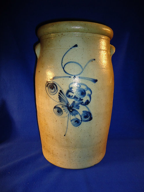 Rare Red Wing Salt Glaze Stoneware 6 Gallon Churn with Butterfly
