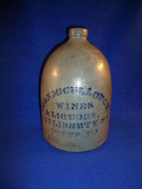 John McCullough, Wines & Liquors, Pittsburgh, PA Stoneware Jug #4488