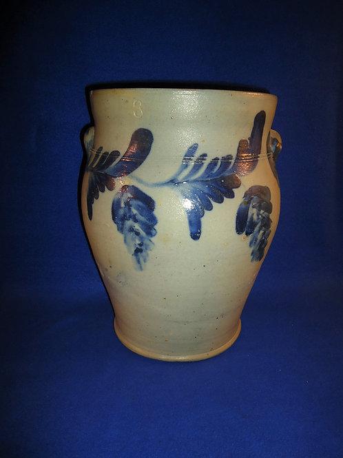 Circa 1860 3 Gallon Semi-Ovoid Jar, att. Remmey of Philadelphia #5133