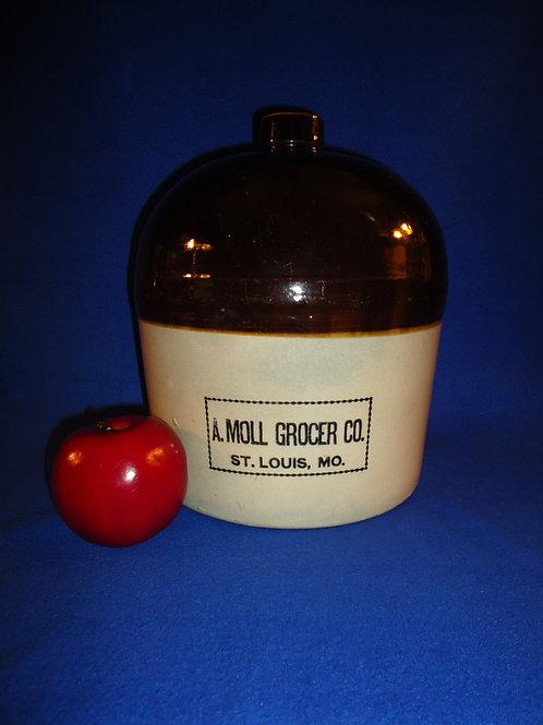 A. Moll, Grocer, St. Louis, Missouri Stoneware 2 Gallon Jug #5771