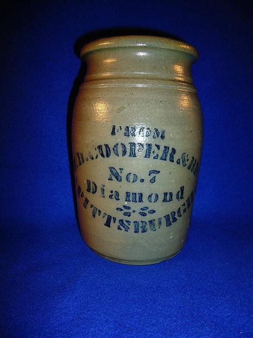 "W. D. Cooper, Pittsburgh, Pennsylvania Stoneware 8"" Jar"