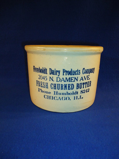 Humboldt Dairy, Chicago, Illinois Stoneware Butter Crock, att. Red Wing