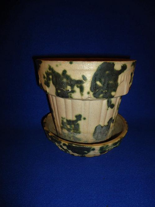 Houghton Pottery, Dalton, Ohio Stoneware Flower Pot, #5032