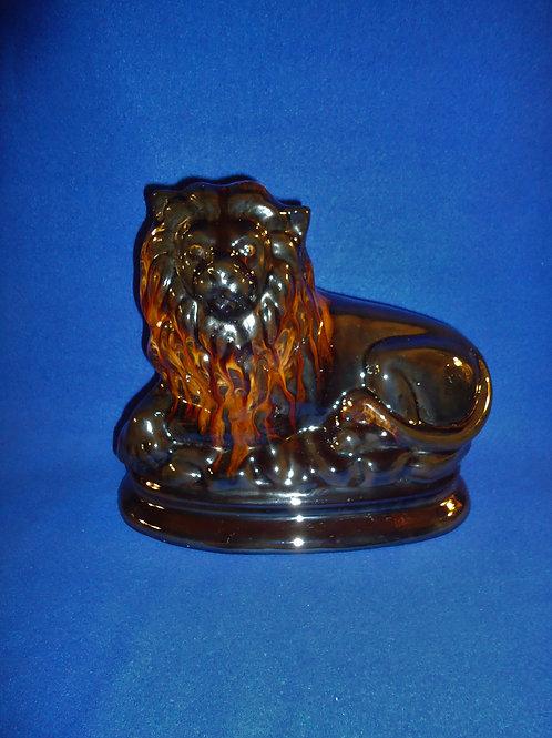 19th Century Redware Recumbant Lion, British Isles Origin