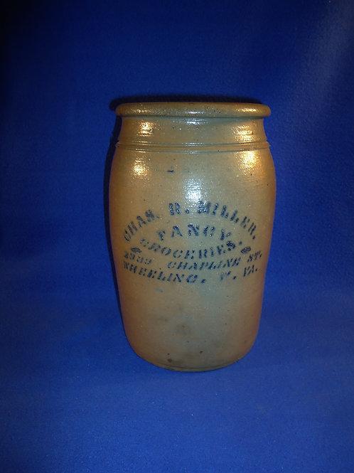 Charles Miller, Grocer, Wheeling, West Virginia Stoneware Jar