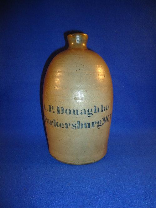A. P. Donaghho, Parkersburg, West Virginia Stoneware 1/2 Gallon Jug