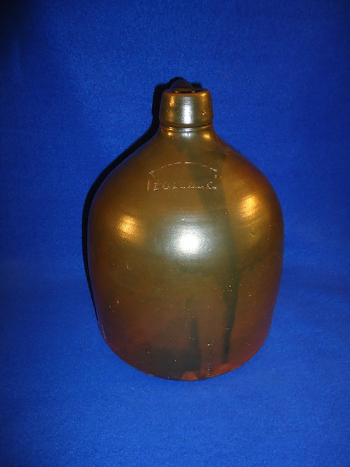 West Troy Pottery 1 Gallon Jug by William Warner, #4762