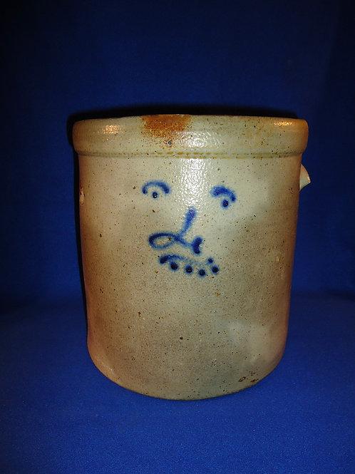 Circa 1880 Ohio 4 Gallon Crock with Human Face