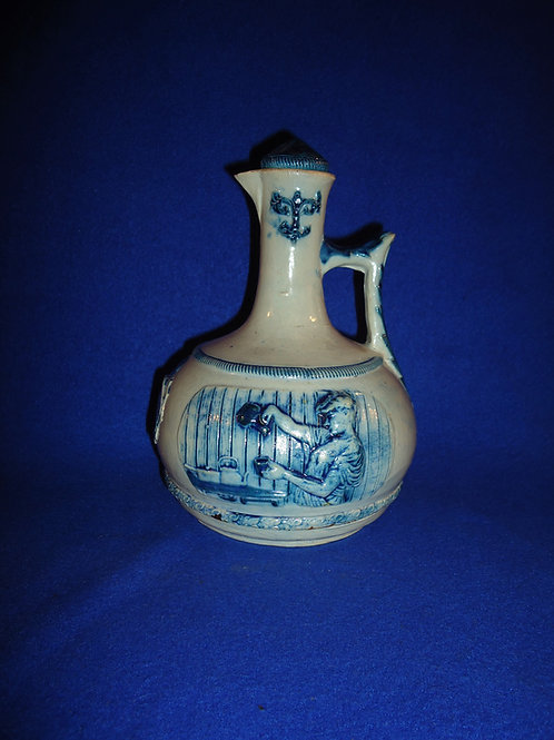Rare Orient Beef Extract Cruet, White of Utica Pottery, #4964
