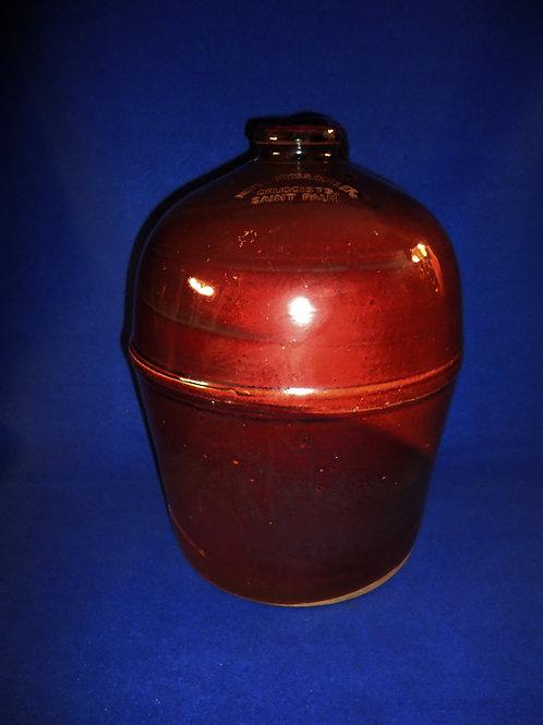 Saint Paul, Minnesota Stoneware Druggist Jug, by Peoria Pottery, Illinois