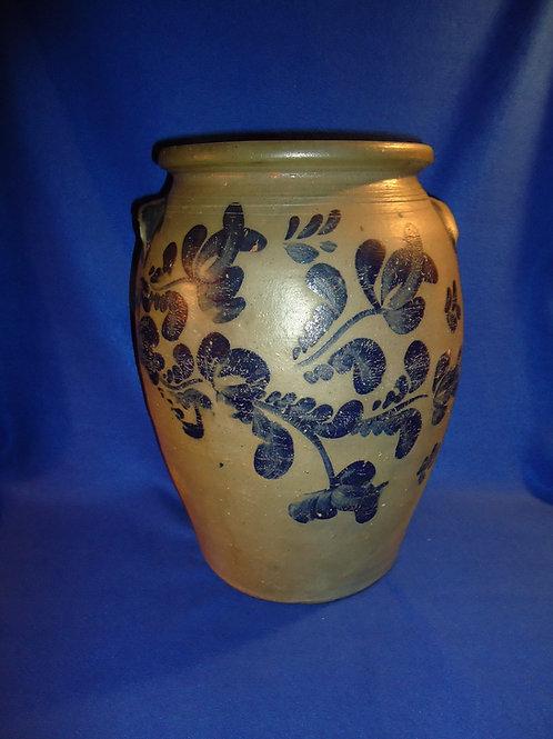 5 Gallon Stoneware Ovoid Jar with Fuchsia from Beaver, Pennsylvania