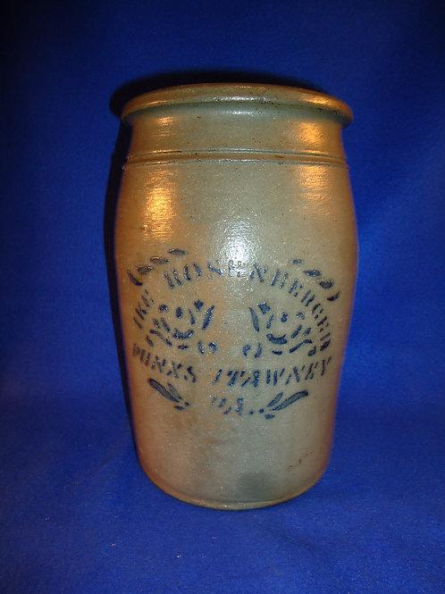 Rosenberger, Punxsutawney, Pennsylvania Stoneware Jar by Hamilton and Jones