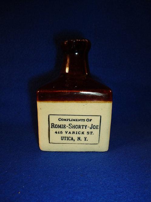 Romie-Shorty-Joe, Utica, N.Y. Stoneware Mini Jug