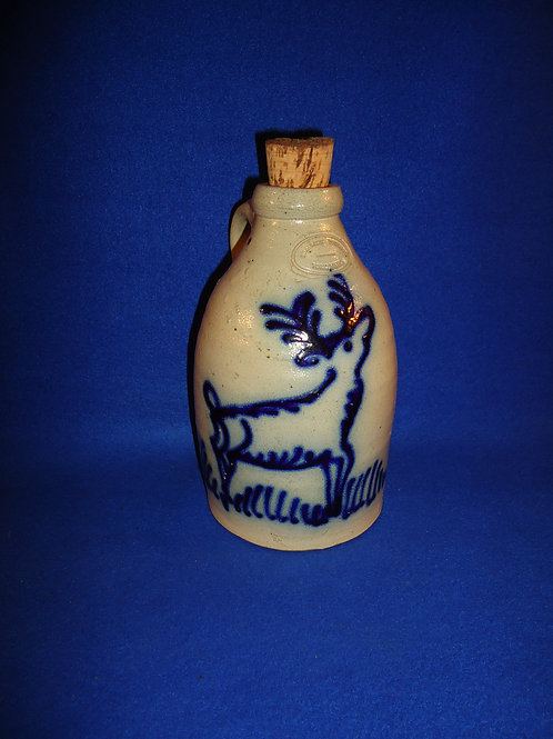 Beaumont Pottery, York, Maine Stoneware Jug with Stag #5145