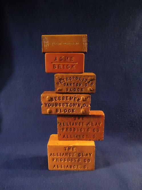 Six Ohio Sewer Tile Brick Salesman Samples for One Money