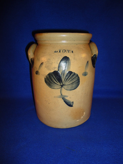 Lyons 1 Gallon Stoneware Jar with Three Leaf Clover