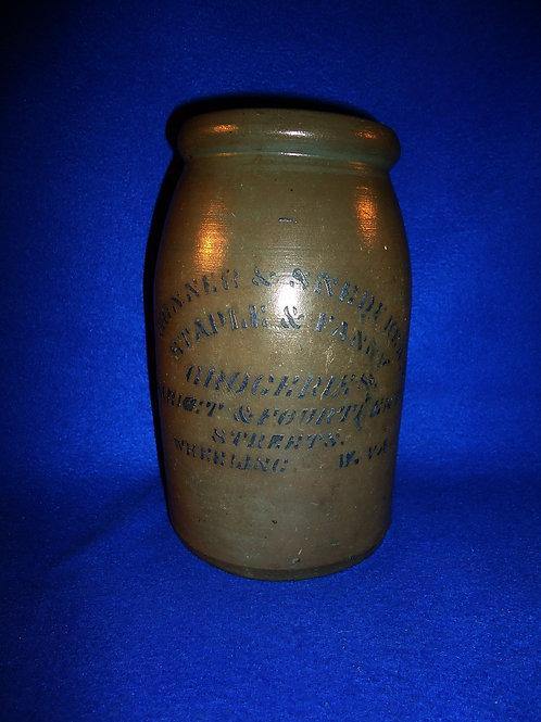 Conner & Snedeker, Grocers, Wheeling, West Virginia Stoneware Wax Sealer