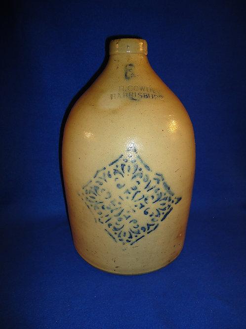 F. H. Cowden, Harrisburg, Pennsylvania Stoneware Jug with Snowflake #5606