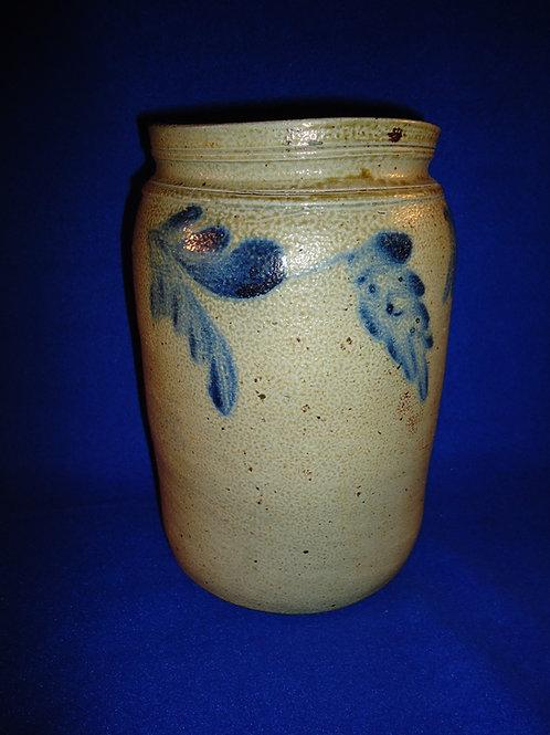 Stoneware Jar with Three Large Florals, att. Richard Remmey of Philadelphia