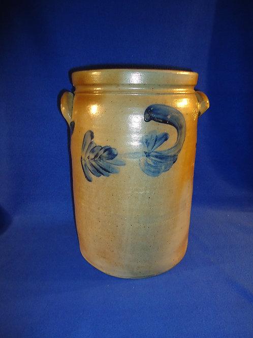 Peter Hermann, Baltimore, Maryland Stoneware 3 Gallon Jar with Florals