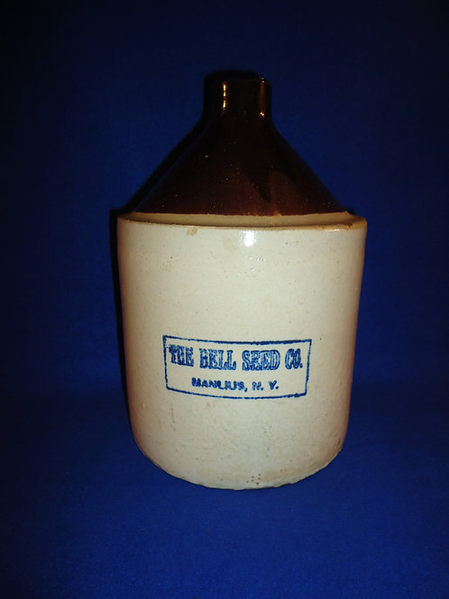 The Bell Seed Company, Manlius, New York Stoneware Jug, #4757