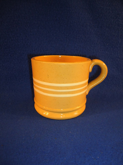 Circa 1880 Yellow Ware Mug with Three Slip Stripes, #4640