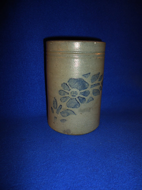 Circa 1880 Stoneware Stovepipe Wax Sealer with Daisy from Southwestern PA