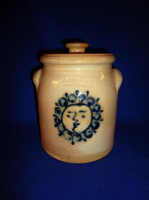 R. & B. Diebboll, Washington, Michigan Stoneware 1/2g Preserve Jar with Sun