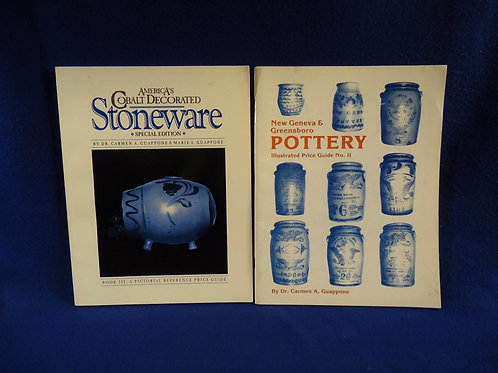 Pair of Stoneware Books by Carmen Guappone #4633