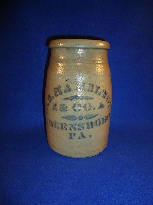 James Hamilton,  Greensboro, Pennsylvania 1/2 Gallon Wax Sealer #5834