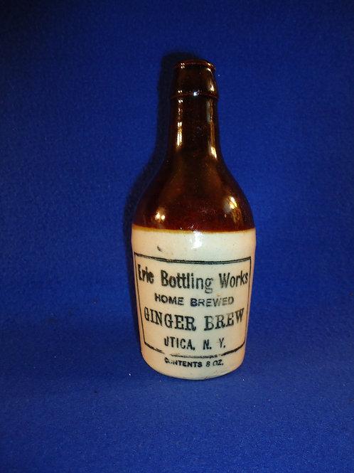 Erie Bottling Works, Utica, New York Stoneware Ginger Beer Bottle