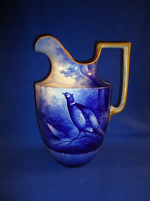 Early 20th Century Pitcher Decorated and Signed by Reginald Austin #5599