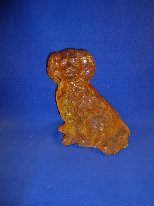 Circa 1900 Sewer Tile Seated Spaniel Door Stop #5165