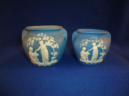 Schafer & Vater, Germany Pair of Miniature Urns, Wedgwood #4456
