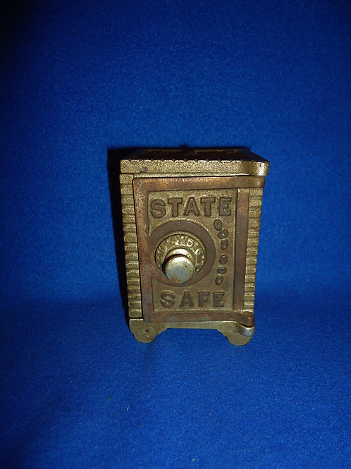 Circa 1900 State Safe Cast Iron Safe Bank with Combination Lock #5234