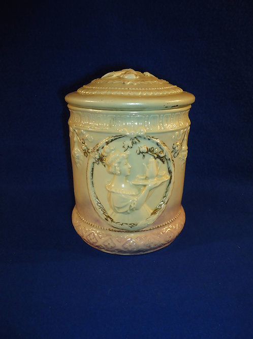 Dated 1896 Schafer & Vater, Germany Porcelain Humidor #4439