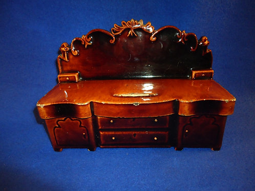 19th Century Stoneware Bank, Large Size, Diningroom Sideboard