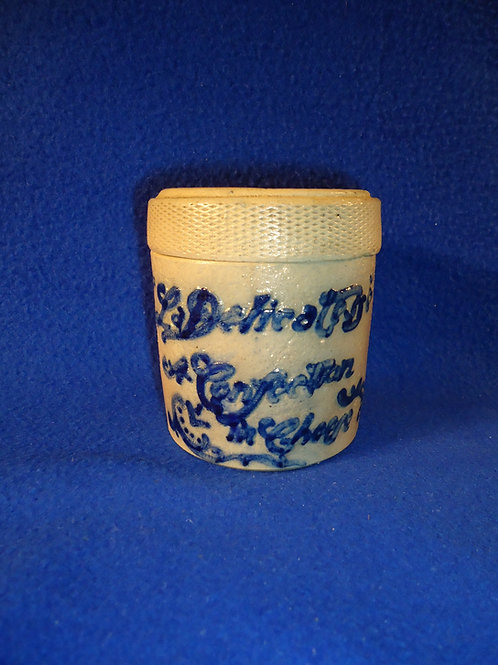 """""""La Delicatessa Cheese"""" Stoneware Jar by Whites Pottery of Utica, New York"""