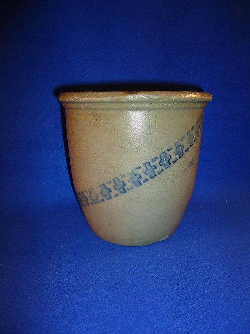 1/2 Gallon Stoneware Cream Pot with Crosses, att. James Hamilton of Greensboro