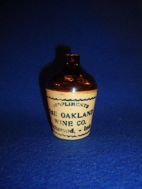 Oakland Wine Company, Richmond, Indiana Stoneware Mini Jug