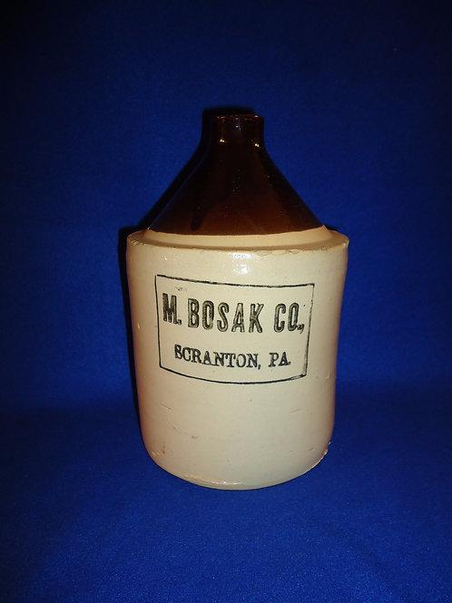 M. Bosak Co., Scranton, Pennsylvania Stoneware 1/2 Gallon Merchant Jug