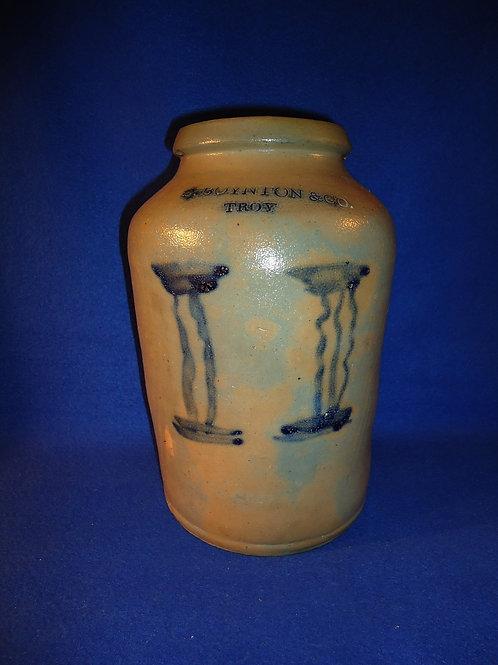 C. Boynton, Troy, N.Y. Stoneware 1 Gallon Jar with Doric Columns