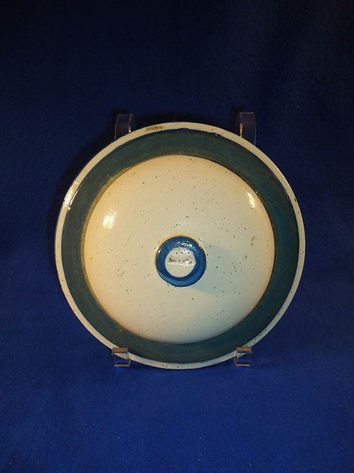 """Blue and White Stoneware 8"""" Domed Lid"""