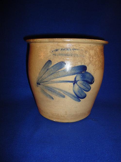 Cowden & Wilcox, Harrisburg, Pennsylvania Stoneware Cream Pot with Tulip